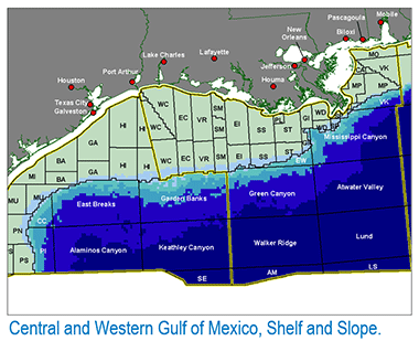 Central and Western Gulf of Mexico Shelf and Slope